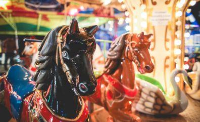 Carousel horse amusement park