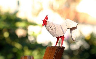 Paper bird hen