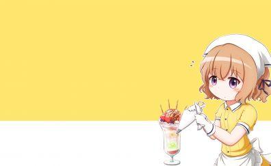 Cute, maid, Mafuyu Hoshikawa, BLEND S, anime girl, minimal