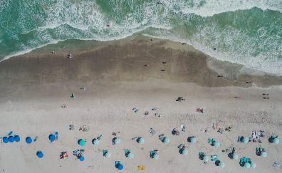 Cocoa Beach, beach, aerial view, united states