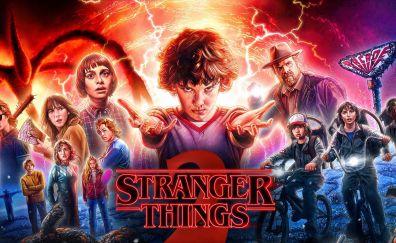 Stranger things, season 2, 2017, tv series, latest poster
