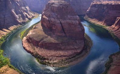 Horseshoe Bend, Colorado river, valley, landscape, nature