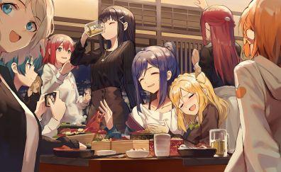 Love Live! Sunshine!!, dinner, fun, anime girls