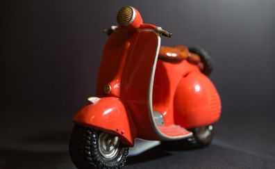 Red, bike, scooter, toy