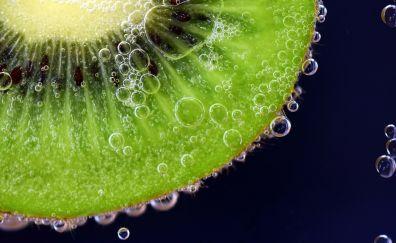 Kiwifruit, fruits, submerged, bubbles