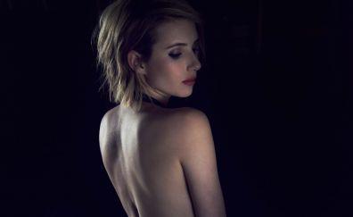 Emma Roberts, bare shoulder, photoshoot, 2017