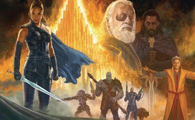 Thor: ragnarok, movie, artwork, fan mad