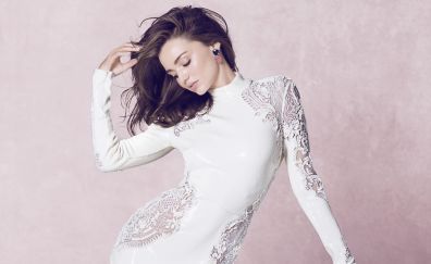 Miranda kerr, white clothing, beautiful model
