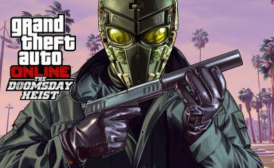 The doomsday heist, grand theft auto online, game, 4k