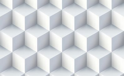 Texture, white cubes, abstract, pattern