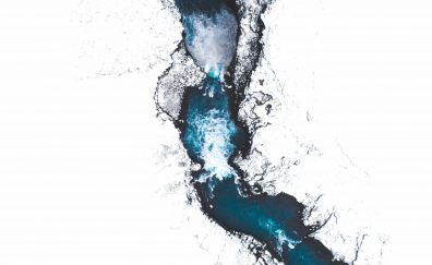 Iceland, river, aerial view