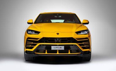 Lamborghini urus, car, front view, 4k