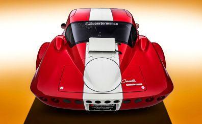 Chevrolet Corvette, car, rear view