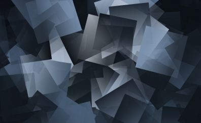 Gray mosaic, gradient, pattern, abstract, 4k