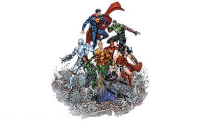 Justice league, superheroes, minimal, art