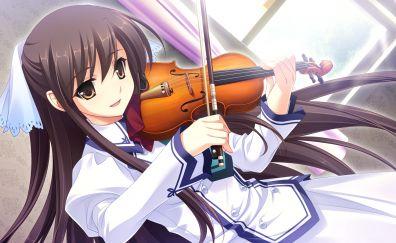 Michiru, Midori no Umi, play, violin