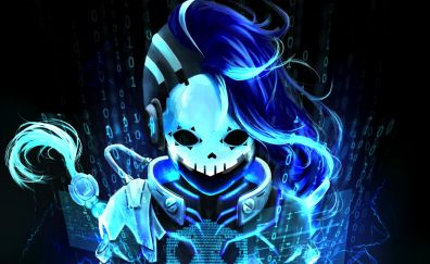 Cyberspace, Sombra, overwatch, blue