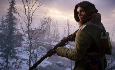 Battlefield 1, warrior, video game, 4k