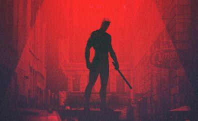 Daredevil, superhero, minimalism, artwork