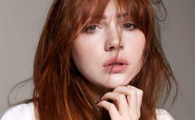 Karen gillan, red head, face, celebrity, 2017