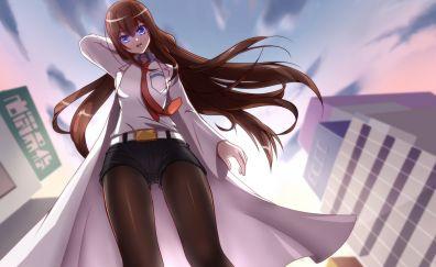 Long hair, anime girl, Kurisu Makise, Steins;Gate