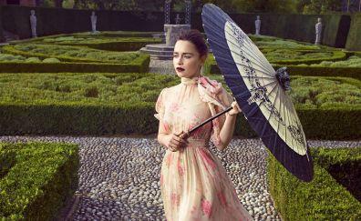 Emilia clarke, harpers bazaar, umbre alla, garden, 2017