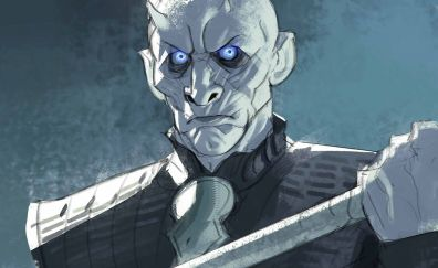 Night king, white walkers, game of thrones, fan art
