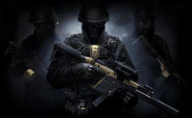 Soldiers, Tom Clancy's Rainbow Six Siege, video game, 8k
