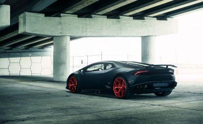 Lamborghini Huracan, sports car, side view, gray