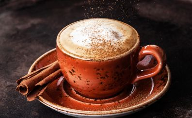 Coffee cup, cup, powder