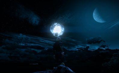 Dark, night, the witcher 3: wild hunt