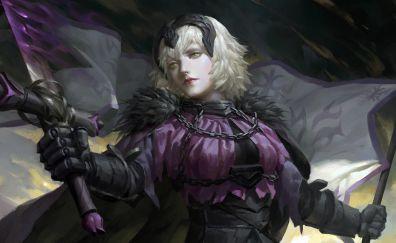 Jeanne d'arc, alter, Fate, anime girl