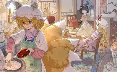 Ran Yakumo, Yukari Yakumo, Touhou, anime girls
