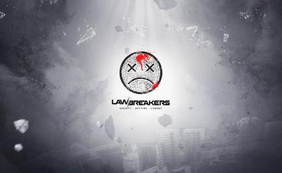 LawBreakers, video game, 4k, logo, minimal
