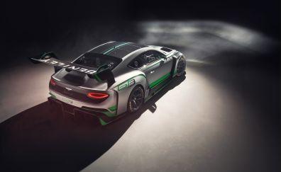 Bentley continental GT3, sports car, rear, 2018, 4k