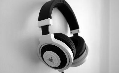 Razer headphones, monochrome