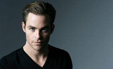 Chris Pine, American actor, blue eyes