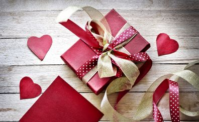 Valentines day, love, hearts gifts, ribbons