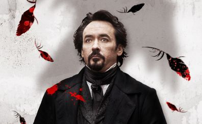 The Raven, John Cusack, movie, actor, celebrity, feathers
