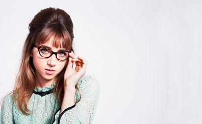 Zoe Kazan wearing glasses