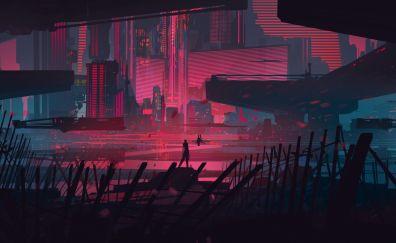 Modern city illustration artwork