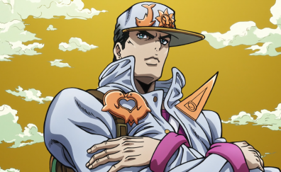 Jotaro Kujo, JoJo's Bizarre, anime, anime boy