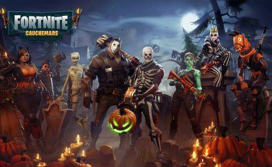 Fortnite, characters, game, halloween