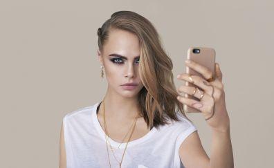 5k, Cara Delevingne, smartphone, 2017