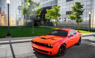 Dodge Challenger SRT, hellcat, widebody, car, 4k