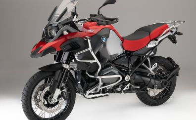 Red motorycle, 4k, BMW R1200GS, 4k