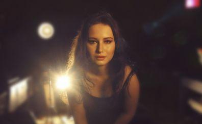 Alexia Maier, girl, model, beautiful, 4k