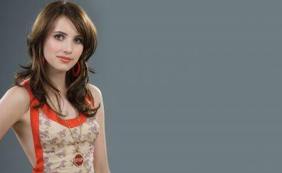 Emma Roberts, brunette, actress, beautiful