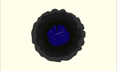 Space, stars, minimal, night, 5k