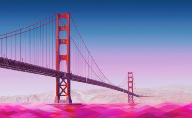 Golden gate bridge, digital art